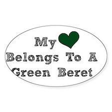 My Heart Belongs To A Green Beret Decal