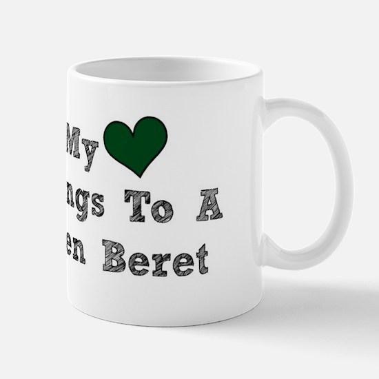 My Heart Belongs To A Green Beret Mugs