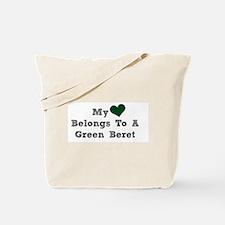 My Heart Belongs To A Green Beret Tote Bag