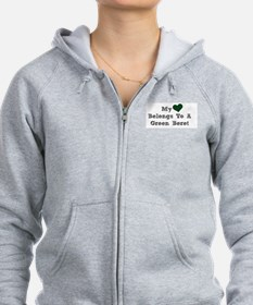 My Heart Belongs To A Green Beret Zip Hoodie