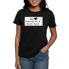 My Heart Belongs To A Green Beret T-Shirt