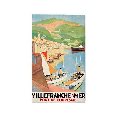 VilleFrance, Travel, France, Vintage Poster 3'x5'