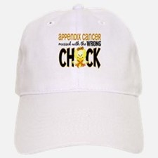 Appendix Cancer Messed With Wrong Chick Baseball Baseball Cap