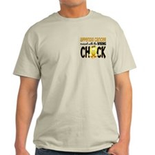 Appendix Cancer Messed With Wrong Chick T-Shirt