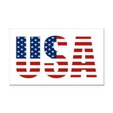 USA Flag Rectangle Car Magnet