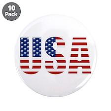 "USA Flag 3.5"" Button (10 pack)"