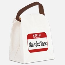 Name is None of Your Business Canvas Lunch Bag