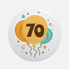 70th Birthday Party Ornament (Round)