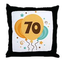 70th Birthday Party Throw Pillow