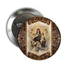 "Our Lady of Mt Carmel 2.25"" Button"