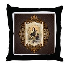 Our Lady of Mt Carmel Throw Pillow