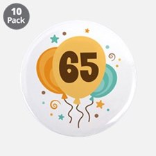 "65th Birthday Party 3.5"" Button (10 pack)"