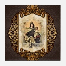Our Lady of Mt Carmel Tile Coaster