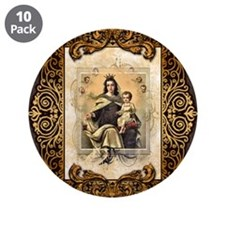 """Our Lady of Mt Carmel 3.5"""" Button (10 pack)"""