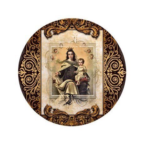 "Our Lady of Mt Carmel 3.5"" Button (100 pack)"
