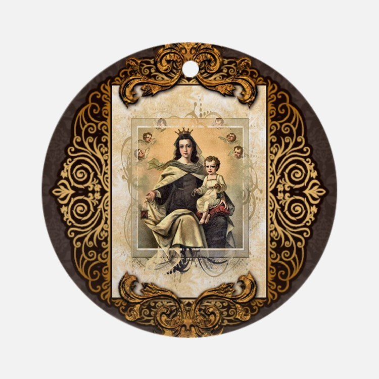 Our Lady of Mt Carmel Ornament (Round)