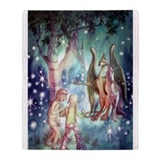 Welcome to Fairyland Throw Blanket