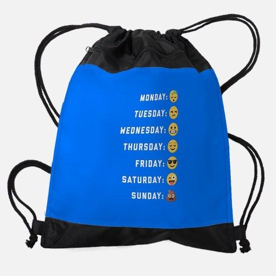 Emoji Days of the Week Drawstring Bag