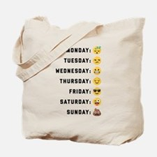 Emoji Days of the Week Tote Bag