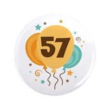 "57th Birthday Party 3.5"" Button"