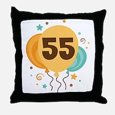 55th Birthday Party Throw Pillow
