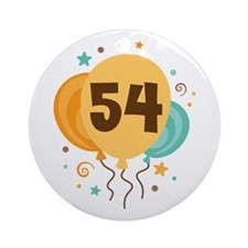 54th Birthday Party Ornament (Round)
