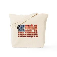 Vintage Grunge MERICA U.S. Flag Tote Bag