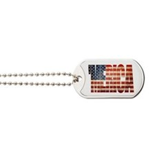 Vintage Grunge MERICA U.S. Flag Dog Tags
