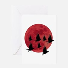 BLOOD MOON Greeting Cards