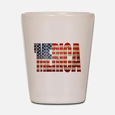 Vintage Grunge MERICA U.S. Flag Shot Glass