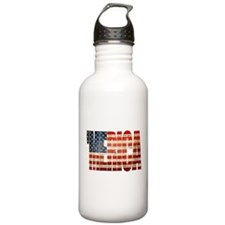 Vintage Grunge MERICA U.S. Flag Water Bottle