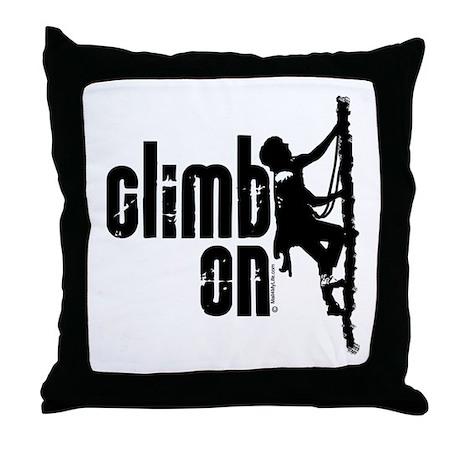 Climb On Throw Pillow