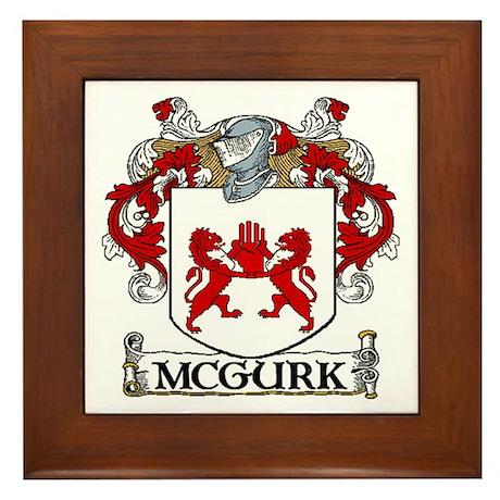 McGurk Coat of Arms Framed Tile