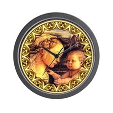 Virgin with Jesus by Lippi Wall Clock