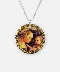 Virgin with Jesus by Lippi Necklace