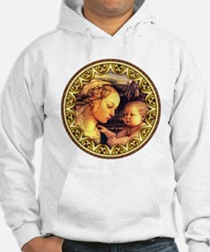 Virgin with Jesus by Lippi Hoodie