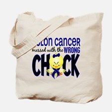 Colon Cancer Messed With Wrong Chick Tote Bag
