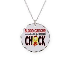 Blood Cancer Messed With Wrong Chick Necklace