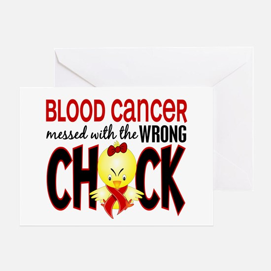 Blood Cancer Messed With Wrong Chick Greeting Card