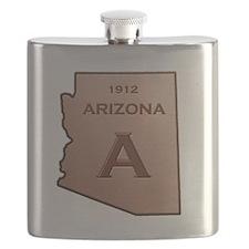 Copper Arizona 1912 State Outline Flask