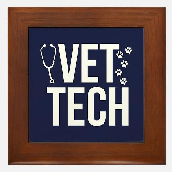 Vet Tech Framed Tile