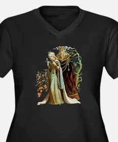 Beauty and the Beast Women's Plus Size V-Neck Dark