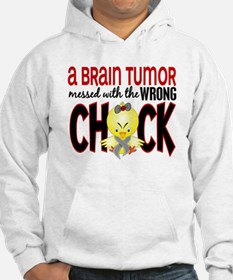 Brain Tumor Messed With Wrong Chick Jumper Hoody