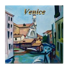 Venetian Boatyard Tile Coaster