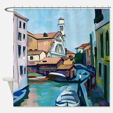 Venetian Boatyard Shower Curtain