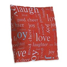 emotion Love red Burlap Throw Pillow