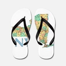 Map of New York State 7 Flip Flops