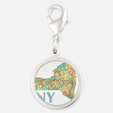 Map of New York State 7 Charms