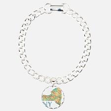 Map of New York State 7 Bracelet