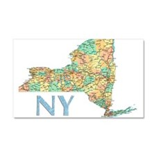 Map of New York State 7 Car Magnet 20 x 12